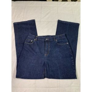 RALPH LAUREN DARK DENIM JEANS WOMEN SIZE 12 A15